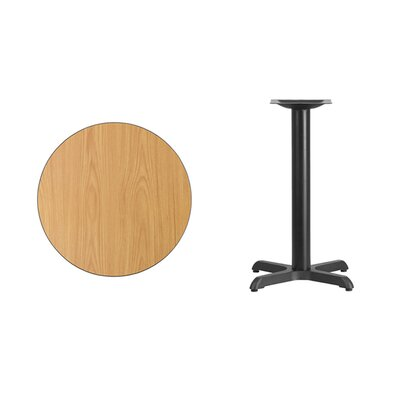"Lula Round Laminate Dining Table Size: 31.13"" H x 24"" L x 24"" W, Color: Natural"