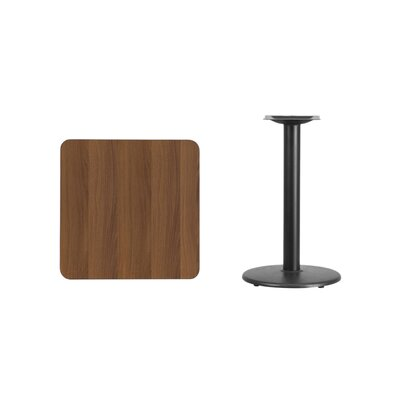 "Mazzola Laminate Dining Table Color: Walnut, Size: 31.13"" H x 24"" L x 24"" W"