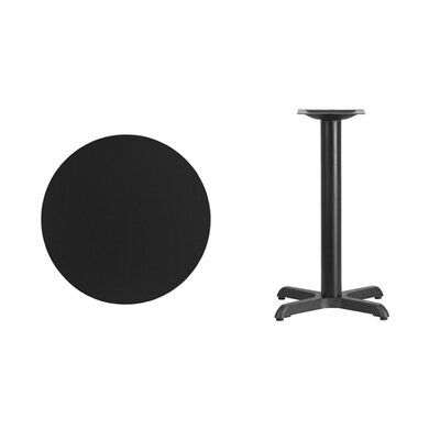 """Lula Round Laminate Dining Table Size: 31.13"""" H x 24"""" L x 24"""" W, Color: Black"""