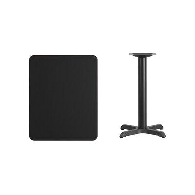 "Kaden Rectangular Laminate Dining Table Color: Black, Size: 31.13"" H x 30"" L x 24"" W"