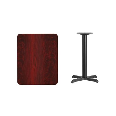 "Kaden Rectangular Laminate Dining Table Color: Mahogany, Size: 31.13"" H x 30"" L x 24"" W"