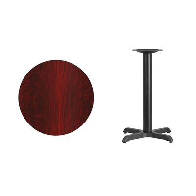 """Lula Round Laminate Dining Table Size: 31.13"""" H x 24"""" L x 24"""" W, Color: Mahogany"""