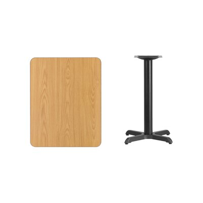 "Kaden Rectangular Laminate Dining Table Color: Natural, Size: 31.13"" H x 30"" L x 24"" W"