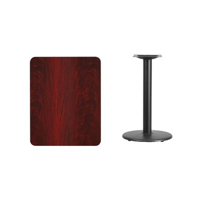 "Mayton Laminate Dining Table Color: Mahogany, Size: 31.13"" H x 30"" L x 24"" W"