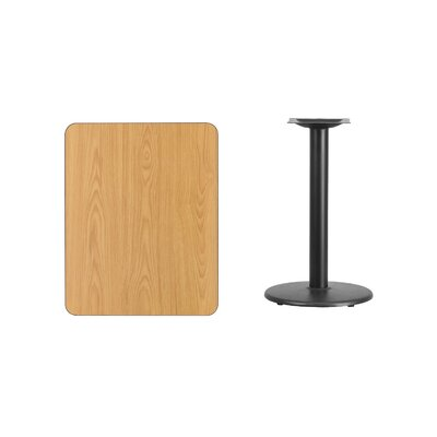 """Mayton Laminate Dining Table Color: Natural, Size: 31.13"""" H x 30"""" L x 24"""" W"""