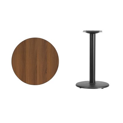 """Lois Round Laminate Dining Table Size: 31.13"""" H x 24"""" L x 24"""" W, Color: Walnut"""