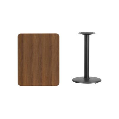 "Mayton Laminate Dining Table Color: Walnut, Size: 31.13"" H x 30"" L x 24"" W"