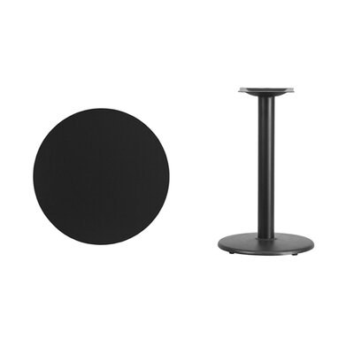 """Lois Round Laminate Dining Table Size: 31.13"""" H x 24"""" L x 24"""" W, Color: Black"""