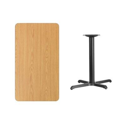 "Kaden Rectangular Laminate Dining Table Color: Natural, Size: 31.13"" H x 45"" L x 30"" W"