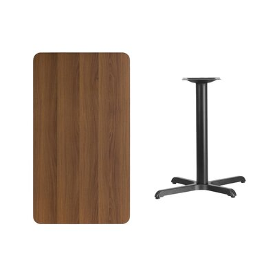 "Kaden Rectangular Laminate Dining Table Color: Walnut, Size: 31.13"" H x 42"" L x 30"" W"