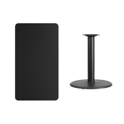 """Mayton Laminate Dining Table Size: 31.13"""" H x 42"""" L x 30"""" W, Color: Black"""