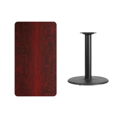 "Mayton Laminate Dining Table Size: 31.13"" H x 42"" L x 30"" W, Color: Mahogany"