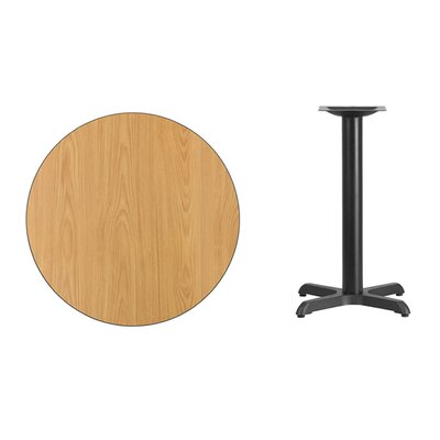 "Lula Round Laminate Dining Table Size: 31.13"" H x 30"" L x 30"" W, Color: Natural"