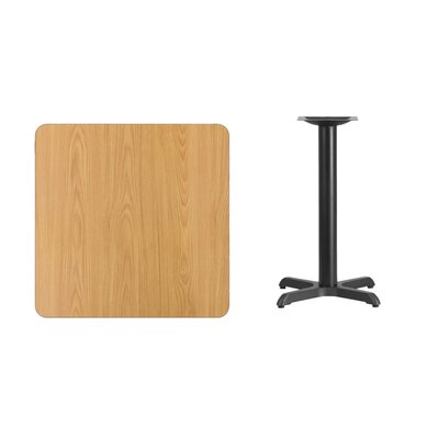 "Mazza Laminate Dining Table Color: Natural, Size: 31.13"" H x 30"" L x 30"" W"