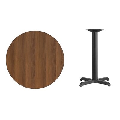 "Lula Round Laminate Dining Table Size: 31.13"" H x 30"" L x 30"" W, Color: Walnut"