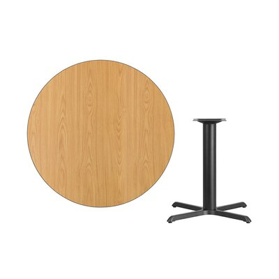 """Lula Round Laminate Dining Table Size: 31.13"""" H x 42"""" L x 42"""" W, Color: Natural"""