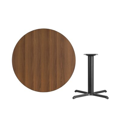 "Lula Round Laminate Dining Table Size: 31.13"" H x 42"" L x 42"" W, Color: Walnut"