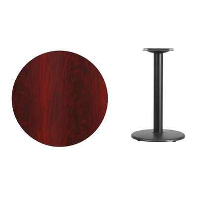 "Lois Round Laminate Dining Table Size: 31.13"" H x 30"" L x 30"" W, Color: Mahogany"