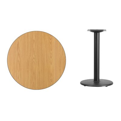 """Lois Round Laminate Dining Table Size: 31.13"""" H x 30"""" L x 30"""" W, Color: Natural"""