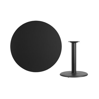 """Lois Round Laminate Dining Table Size: 31.13"""" H x 42"""" L x 42"""" W, Color: Black"""