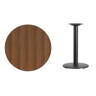 """Lois Round Laminate Dining Table Size: 31.13"""" H x 30"""" L x 30"""" W, Color: Walnut"""