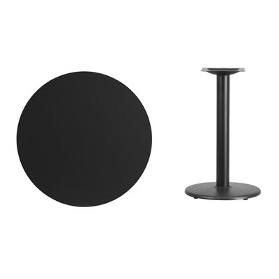 """Lois Round Laminate Dining Table Size: 31.13"""" H x 30"""" L x 30"""" W, Color: Black"""