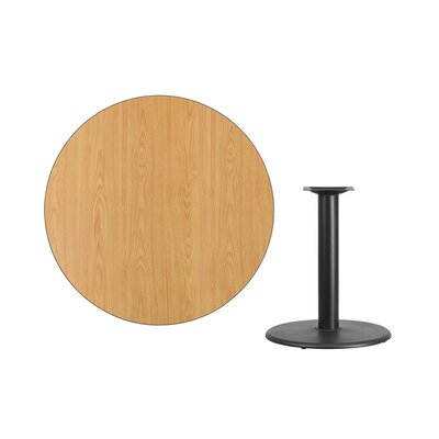 """Lois Round Laminate Dining Table Size: 31.13"""" H x 42"""" L x 42"""" W, Color: Natural"""