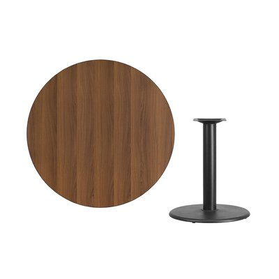 "Lois Round Laminate Dining Table Size: 31.13"" H x 42"" L x 42"" W, Color: Walnut"