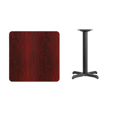 "Mazza Laminate Dining Table Color: Mahogany, Size: 31.13"" H x 30"" L x 30"" W"