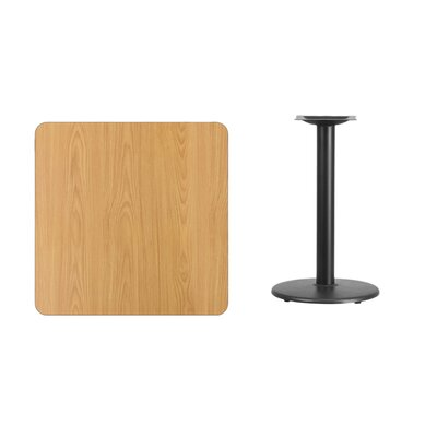 """Mazzola Laminate Dining Table Color: Natural, Size: 31.13"""" H x 30"""" L x 30"""" W"""