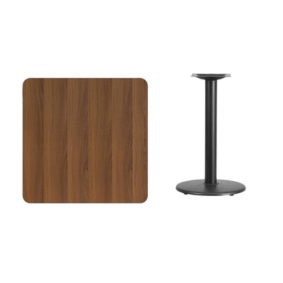 "Mazzola Laminate Dining Table Color: Walnut, Size: 31.13"" H x 30"" L x 30"" W"