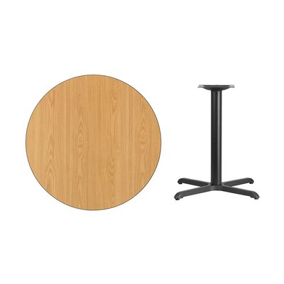 "Lula Round Laminate Dining Table Size: 31.13"" H x 36"" L x 36"" W, Color: Natural"