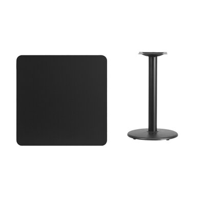 """Mazzola Laminate Dining Table Color: Black, Size: 31.13"""" H x 30"""" L x 30"""" W"""