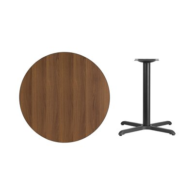 """Lula Round Laminate Dining Table Size: 31.13"""" H x 36"""" L x 36"""" W, Color: Walnut"""
