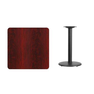 "Mazzola Laminate Dining Table Color: Mahogany, Size: 31.13"" H x 30"" L x 30"" W"