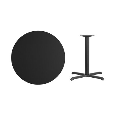 """Lula Round Laminate Dining Table Size: 31.13"""" H x 36"""" L x 36"""" W, Color: Black"""