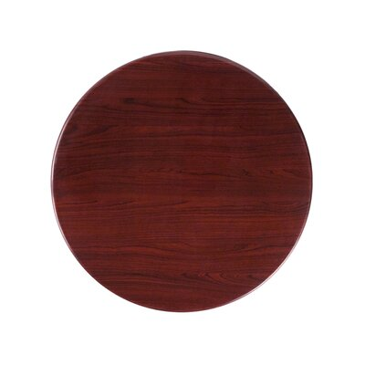 "Llewellyn Round Resin Table Top Size: 24"" L x 24"" W"