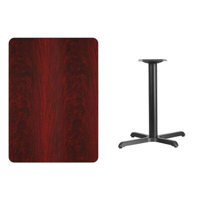 "Kaden Rectangular Laminate Dining Table Color: Mahogany, Size: 31.13"" H x 48"" L x 30"" W"