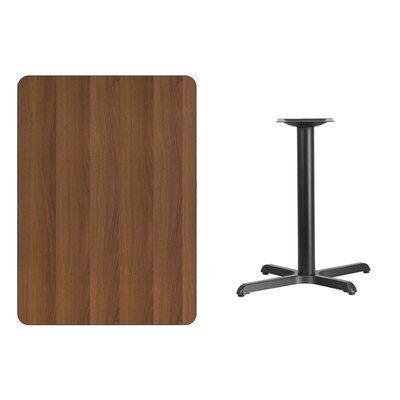 "Kaden Rectangular Laminate Dining Table Color: Walnut, Size: 31.13"" H x 48"" L x 30"" W"