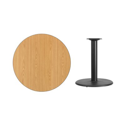 "Lois Round Laminate Dining Table Size: 31.13"" H x 36"" L x 36"" W, Color: Natural"