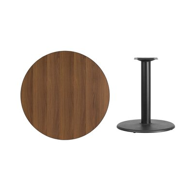 "Lois Round Laminate Dining Table Size: 31.13"" H x 36"" L x 36"" W, Color: Walnut"