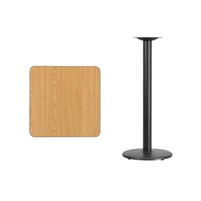"Annora Square Laminate Pub Table Color: Natural, Tabletop Size: 24"" L x 24"" W"