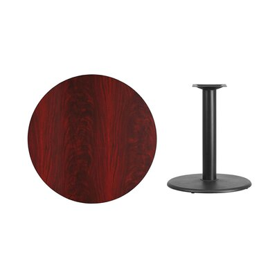 """Lois Round Laminate Dining Table Size: 31.13"""" H x 36"""" L x 36"""" W, Color: Mahogany"""