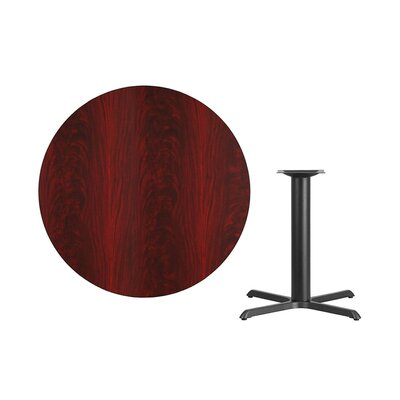 "Lula Round Laminate Dining Table Size: 31.13"" H x 42"" L x 42"" W, Color: Mahogany"