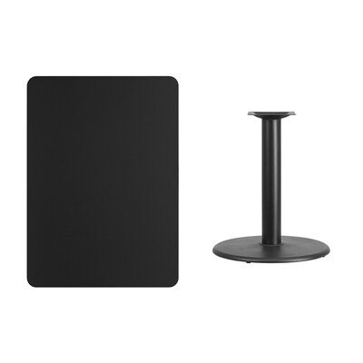 "Mayton Laminate Dining Table Size: 31.13"" H x 48"" L x 30"" W, Color: Black"