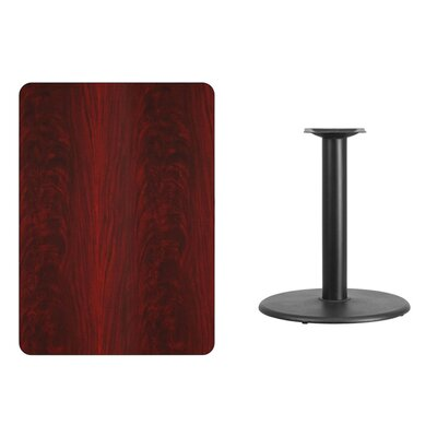 "Mayton Laminate Dining Table Size: 31.13"" H x 48"" L x 30"" W, Color: Mahogany"