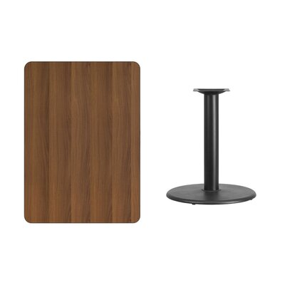 "Mayton Laminate Dining Table Size: 31.13"" H x 45"" L x 30"" W, Color: Walnut"