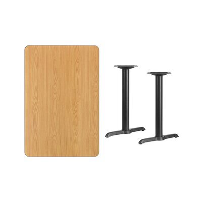"""Adelina Rectangular Laminate Dining Table Color: Natural, Size: 31.13"""" H x 45"""" L x 30"""" W"""