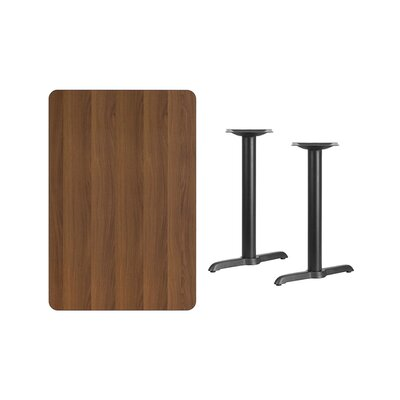 """Adelina Rectangular Laminate Dining Table Color: Walnut, Size: 31.13"""" H x 45"""" L x 30"""" W"""