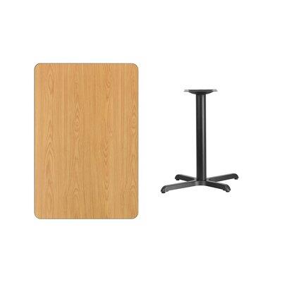 "Kaden Rectangular Laminate Dining Table Color: Natural, Size: 31.13"" H x 42"" L x 24"" W"